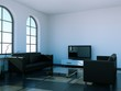 Interiordesign,Wohnzimmer schwarz weiss