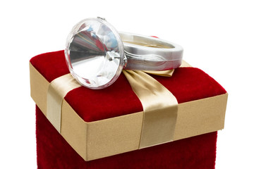 Giving a diamond ring