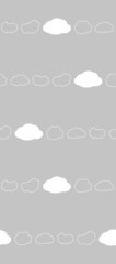 Vector clouds seamless pattern in grey background