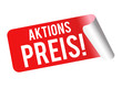 Aktionspreis Sticker Vector