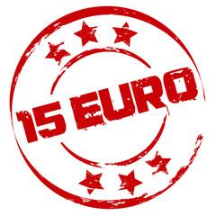 Stempel: 15 Euro