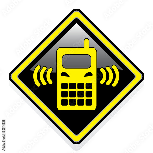 mobile phone symbol. Zoom Not Available: Vector images scale to any size. MOBILE PHONE ICON
