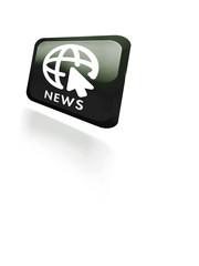 News Button schwarz glossy