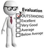 Cartoon teacher manager check evaluation form report poster