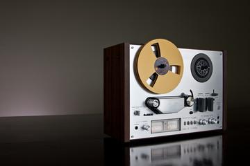 Vintage Analog Reel-to-Reel stereo tape deck recorder