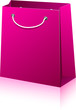 Magenta shopping bag.