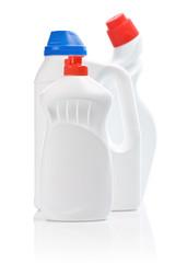 composition of white kitchen bottles