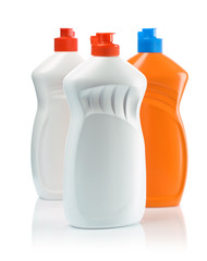three bottles for cleaning