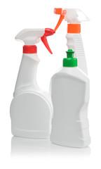 three spray bottle isolated
