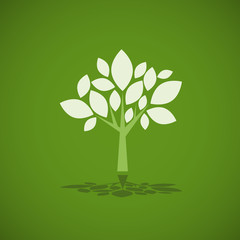 Logo green tree, future # Vector