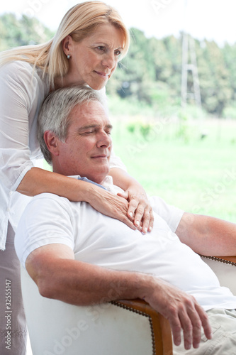 Serene mature couple