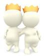 3D royal couple