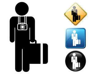Tourist pictogram and signs