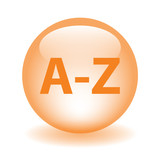 A-Z Web Button (directory search products catalogue dictionary) poster