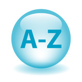 A-Z Web Button (search products catalogue directory dictionary) poster