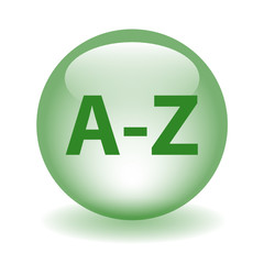 A-Z Web Button (directory search products catalogue dictionary)