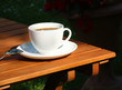 Coffee relax in garden
