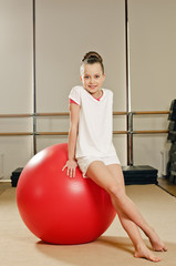 gymnast girl on the ball