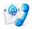 icône e-mail téléphone