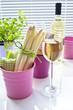 Spargel und Weißwein