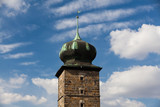 Landmark - Tower in Prague in Czech Republic poster