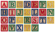 Leinwandbild Motiv Wooden alphabet blocks isolated on white