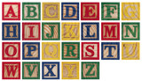 Fototapety Wooden alphabet blocks isolated on white