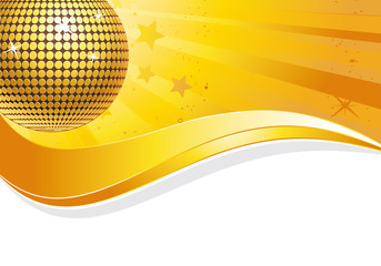 Goldene Discokugel