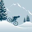 Mountainbiker im Winter