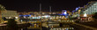 Eilat pier panorama and hotels area at night