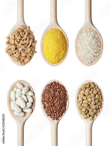 beans rice and food ingredients