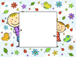 Children's frame. Vector illustration.