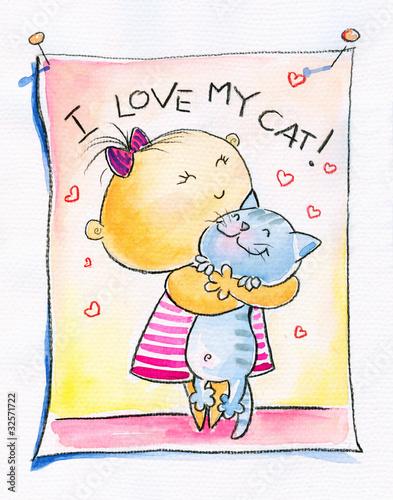 dziewczyna-z-kotem-akwarele