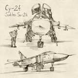 The Sukhoi Su-24 a supersonic
