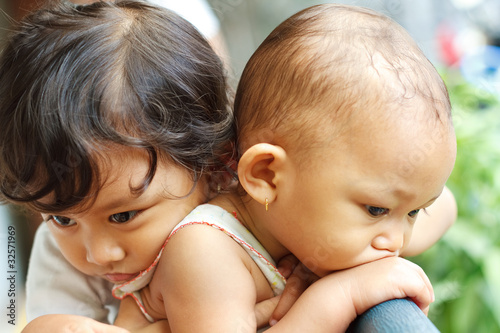 asian ethnic children friendship expression