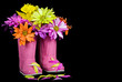 Pink Boot Bouquet