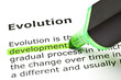 'Development' highlighted, under 'Evolution'