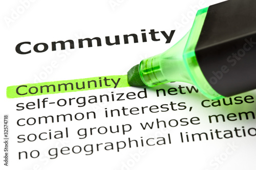 'Community' highlighted in green