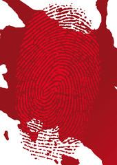 impronta e sangue