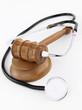 Judge's Gavel and stethoscope