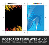 Postcard Template Designs with Copyspace