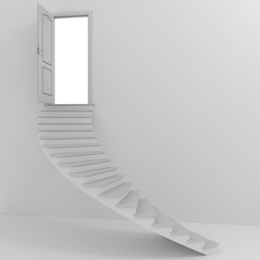 3d stairs going up