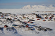 Remote village Kulusuk in winter, Greenland