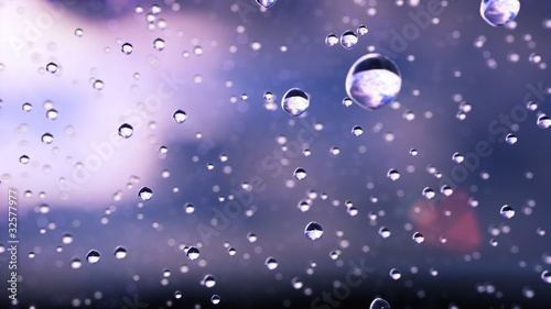 Beautiful rain drops frozen in time. Great For Background. Loop