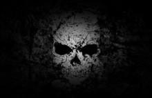 Crâne grunge fond foncé