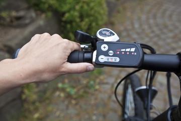 e-bike, hand