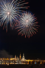 Feuerwerk Elbe Dresden