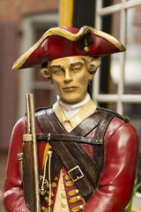 Red Coat Soldier Statue - Freedom Trail - Boston