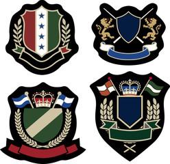 stylish emblem badge set