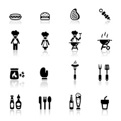 Icons set barbecue